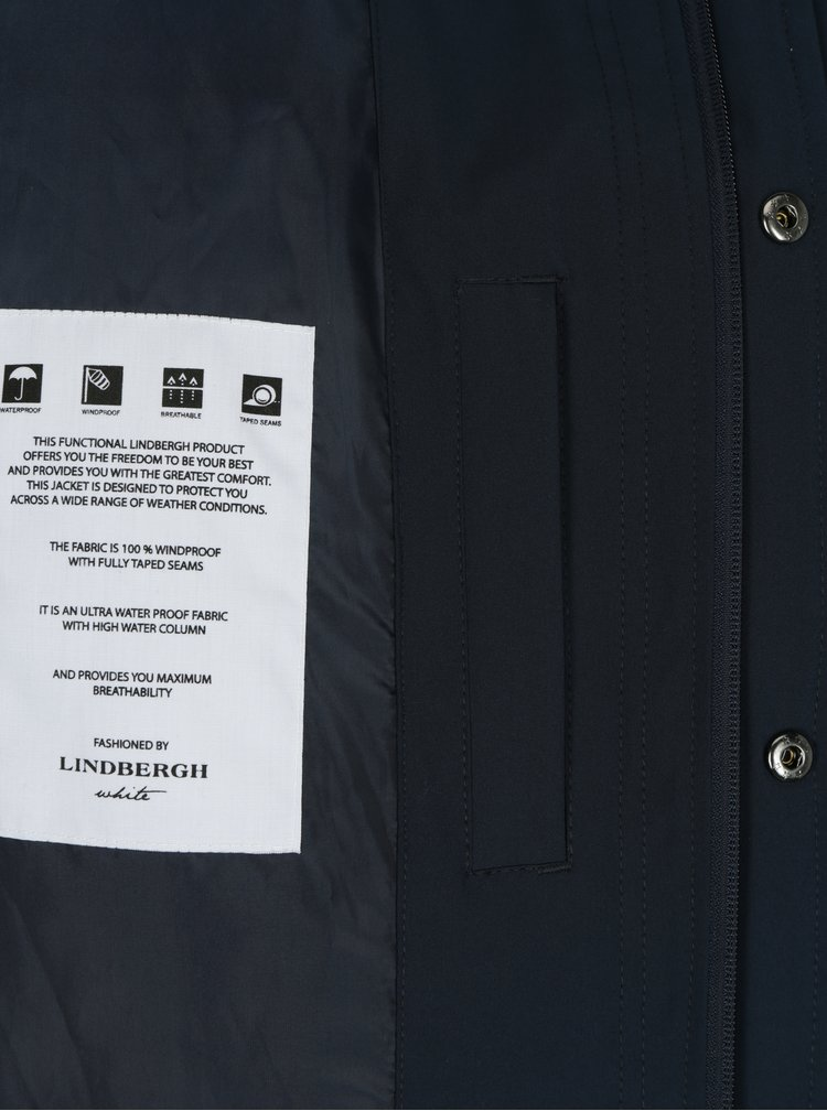 Tmavě modrý voděodolný kabát Lindbergh
