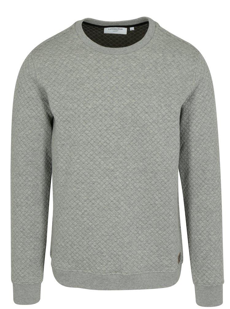 Bluza sport gri cu aspect matlasat - Lindbergh