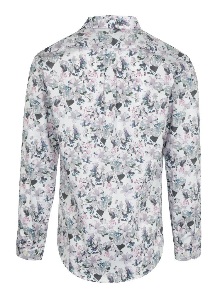 Krémová květovaná košile Lindbergh
