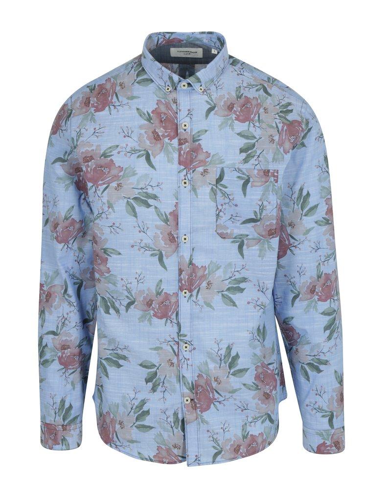 Modrá květovaná košile Lindbergh