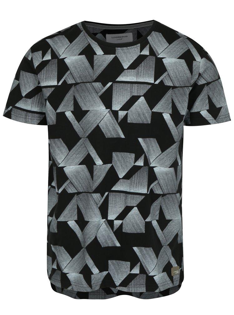 Černé vzorované tričko Lindbergh