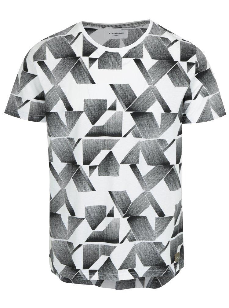 Bílé vzorované tričko Lindbergh