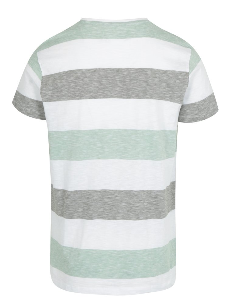 Světle zelené pruhované tričko Lindbergh