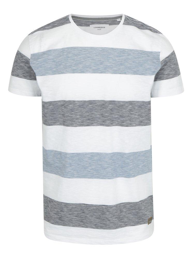 Světle modré pruhované tričko Lindbergh