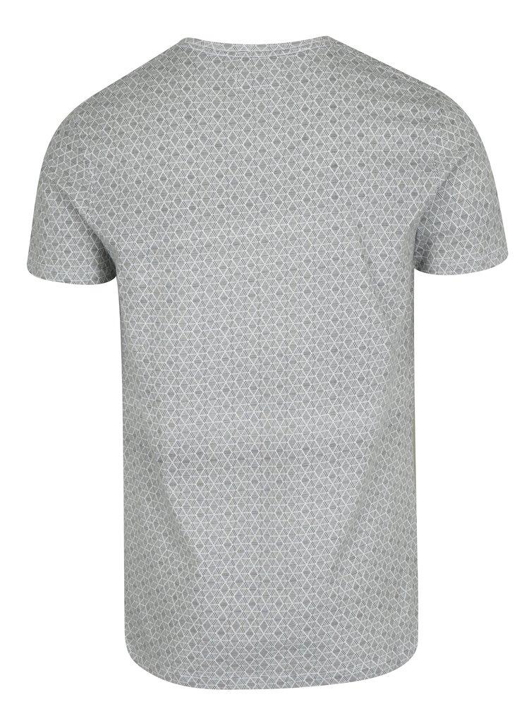Černo-bílé vzorované tričko s véčkovým výstřihem Lindbergh
