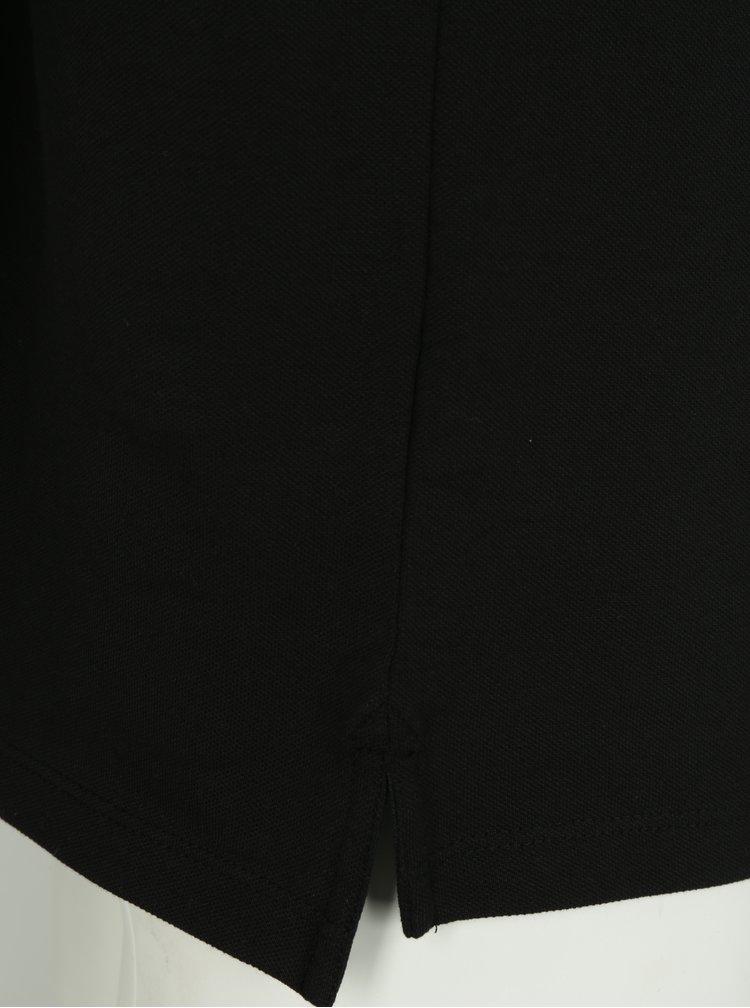 Tricou polo negru din bumbac cu logo  - Lindbergh