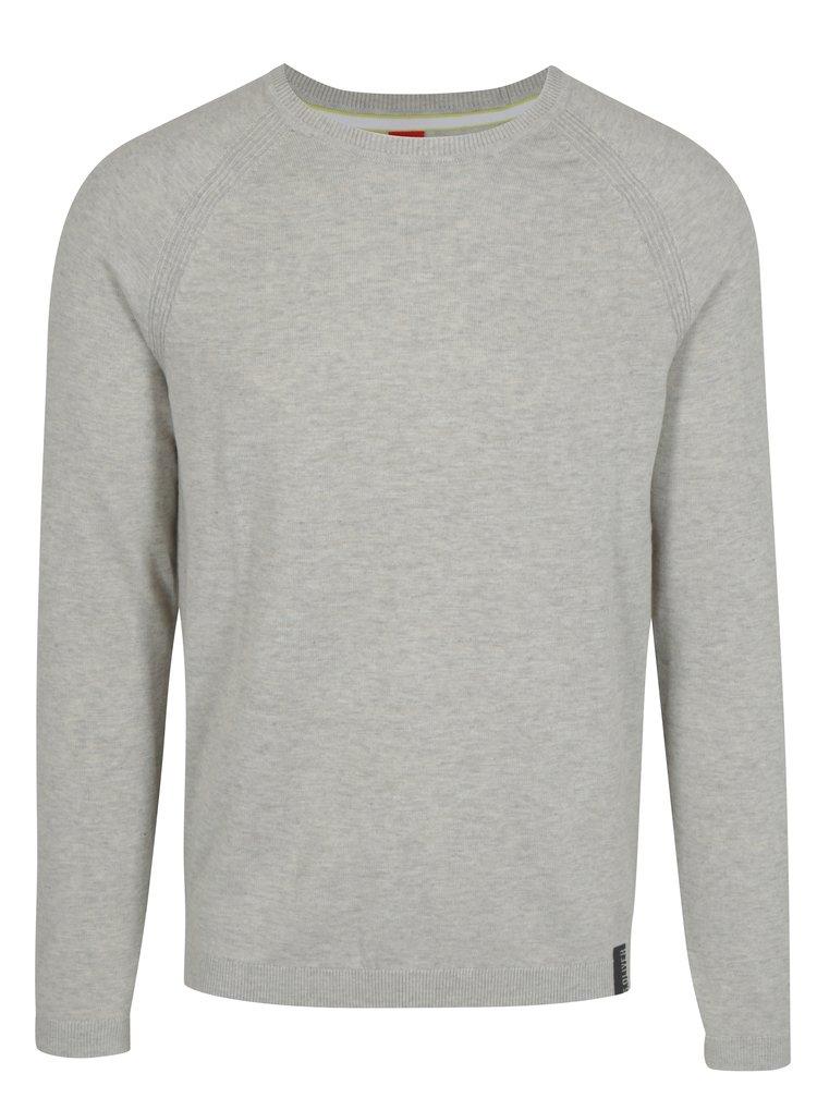 Krémový pánský lehký žíhaný svetr s.Oliver