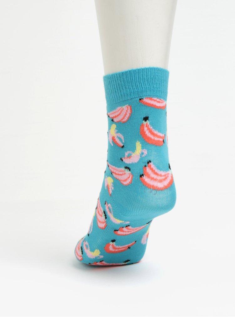 Sada dvou párů dětských ponožek v oranžové barvě Happy Socks Banana