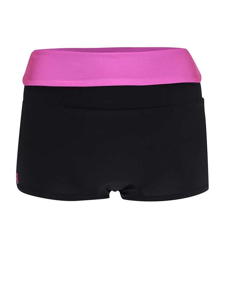 Pantaloni scurti sport Mania fitness wear Invert cu talie inalta fucsia
