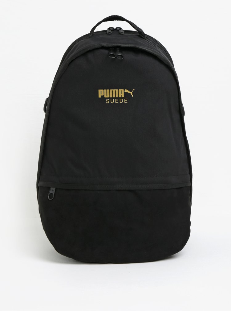 Černý batoh s detaily v semišové úpravě Puma 22 l