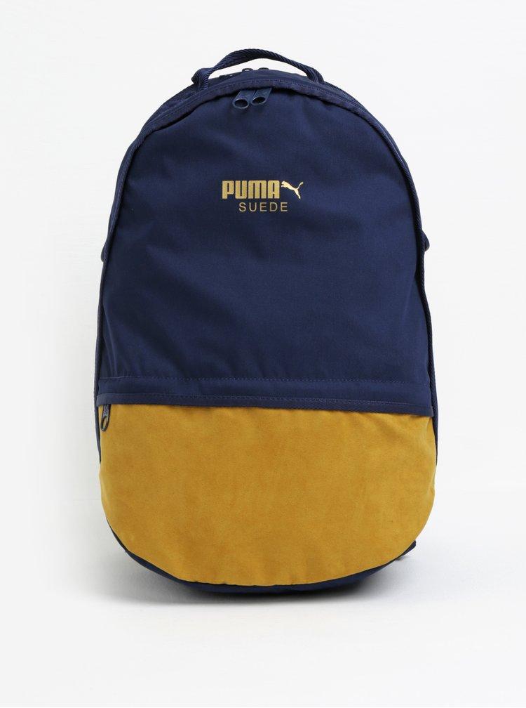 Tmavě modrý batoh s detaily v semišové úpravě Puma 22 l