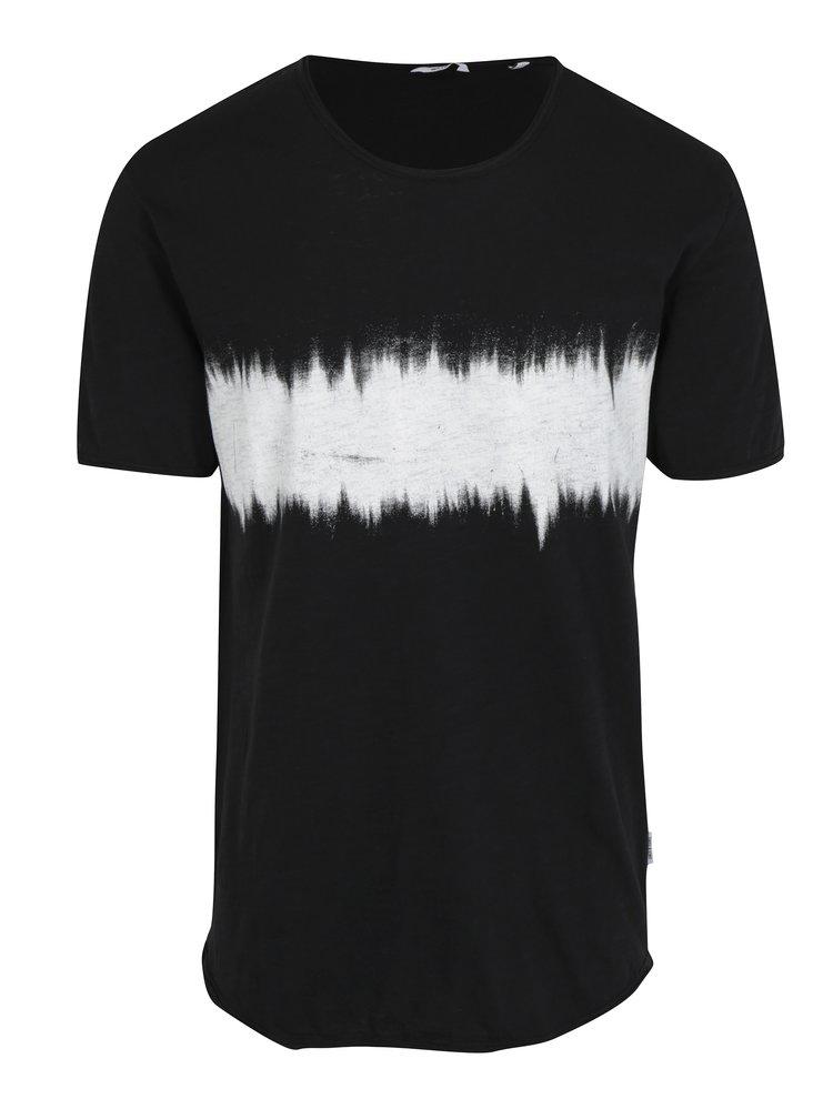 Čierne dlhé tričko s potlačou ONLY & SONS Samuel