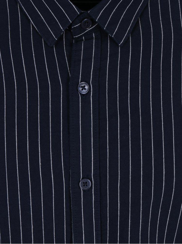 Tmavě modrá pruhovaná slim košile ONLY & SONS Nihal