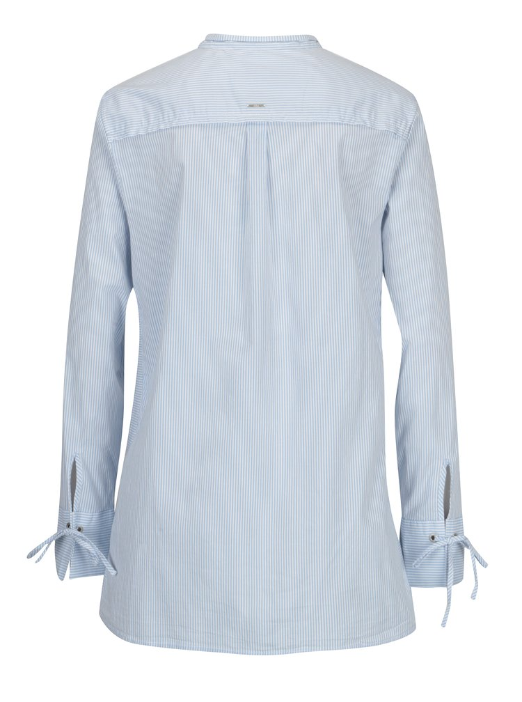 Bílo-modrá dámská pruhovaná dlouhá košile s.Oliver