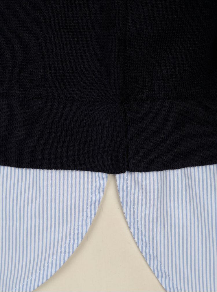 Pulover bleumarin cu terminatie in dungi pentru femei s.Oliver