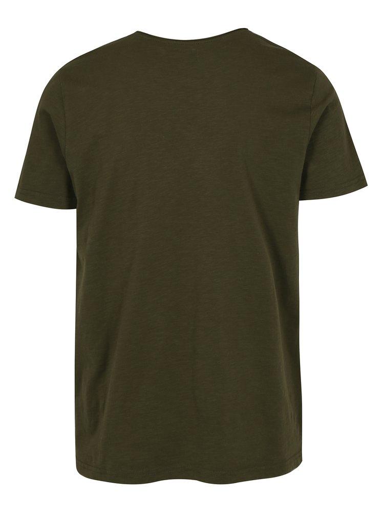 Khaki žíhané tričko Shine Original