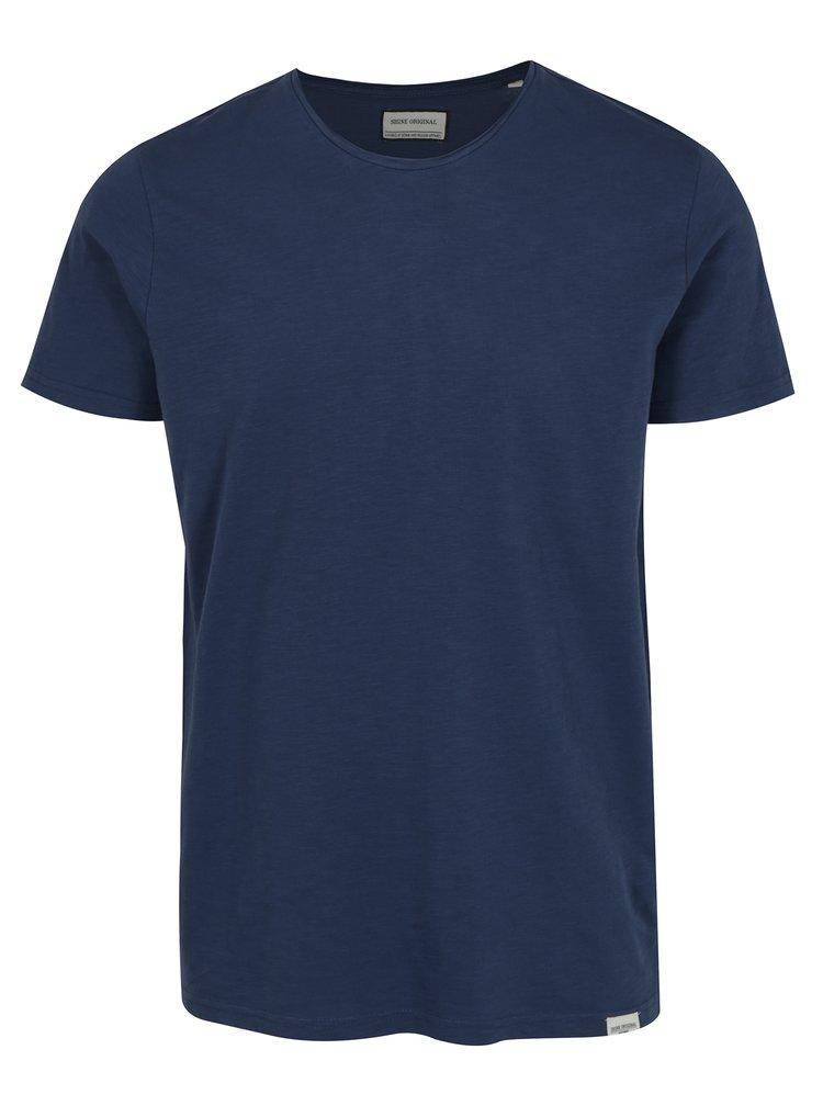 Tmavě modré žíhané tričko Shine Original