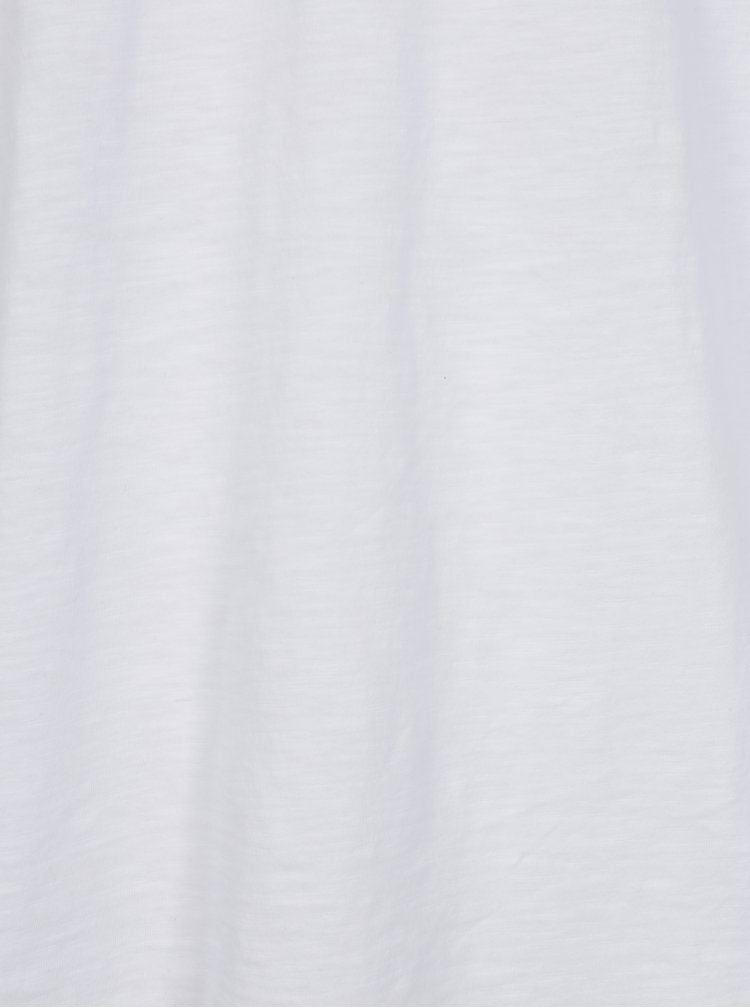 Bílé žíhané basic tričko Shine Original