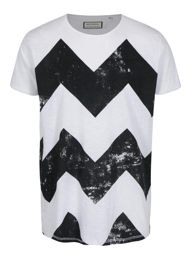 Černo-bílé vzorované tričko Shine Original