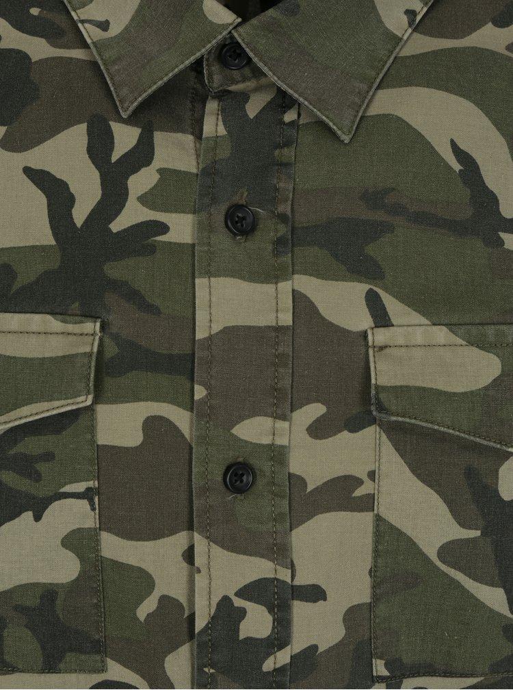 Zelená maskáčová košile Shine Original