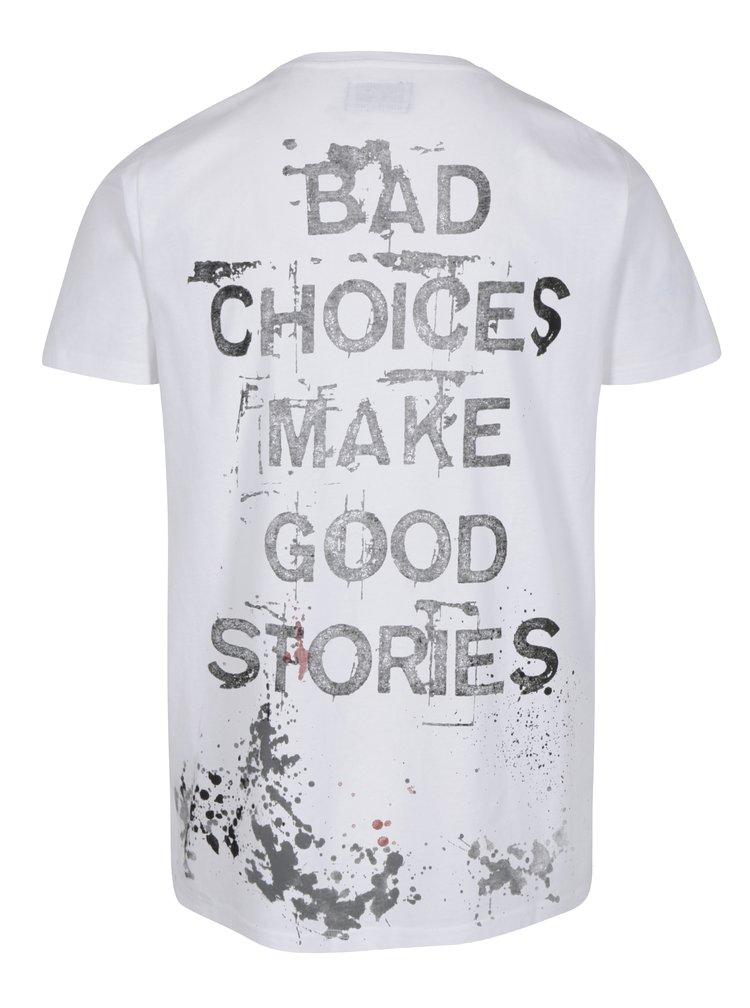 Bílé tričko s nápisem na zádech Shine Original