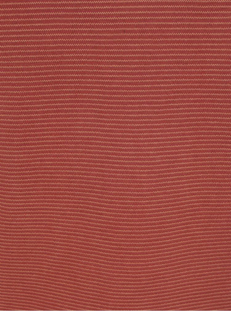 Cihlový žebrovaný svetr Shine Original