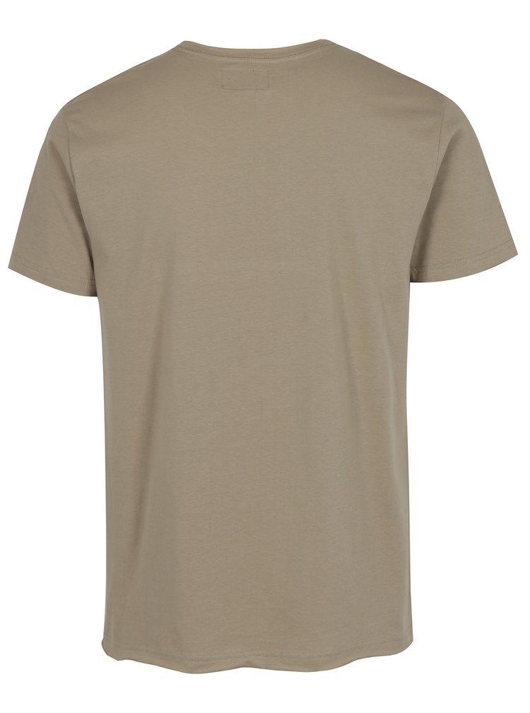 Béžové tričko s potiskem Reckless Denim Shine Original
