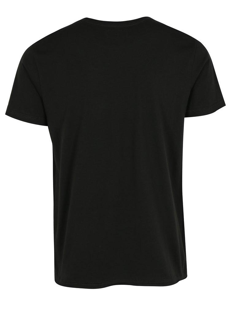 Tricou negru cu print Shine Original