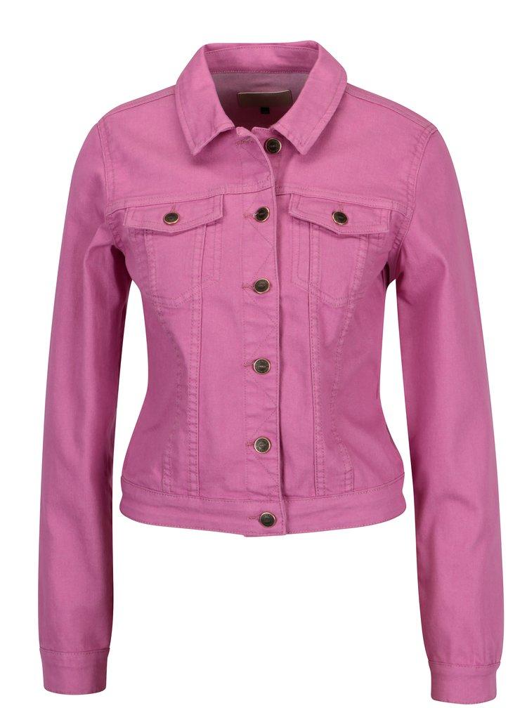Růžová džínová bunda ONLY Chris