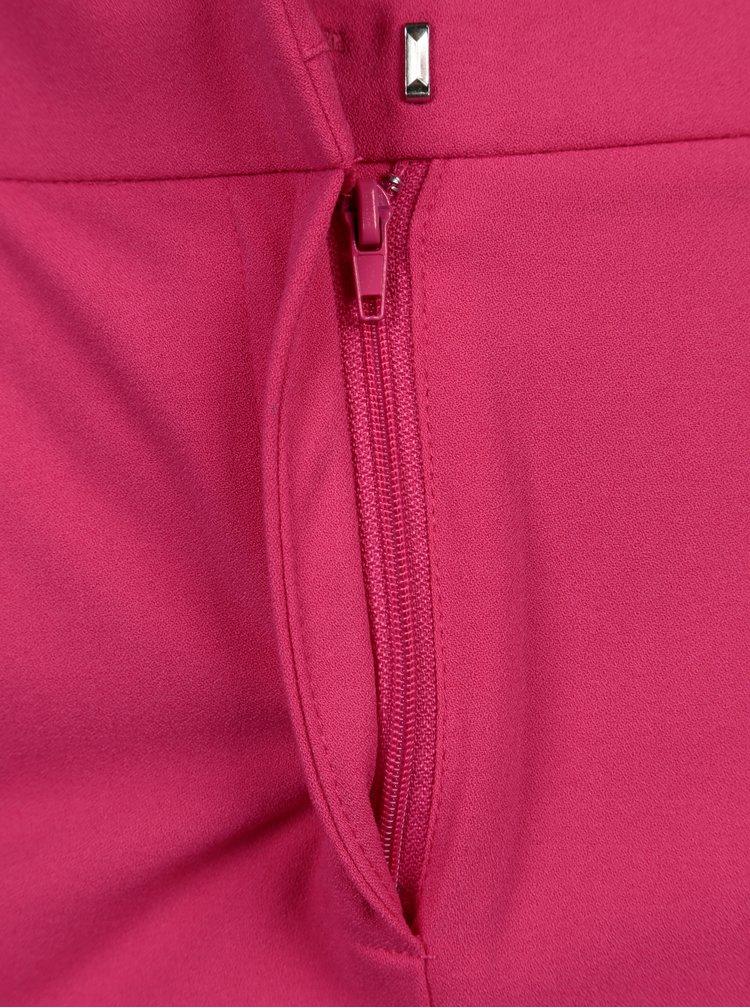 Pantaloni roz cu talie inalta si funda - ONLY Michelle
