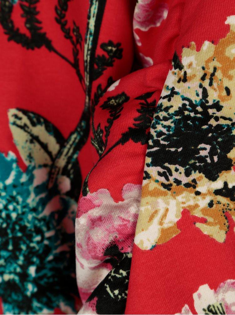 Červená květovaná mikina ONLY Katehrine