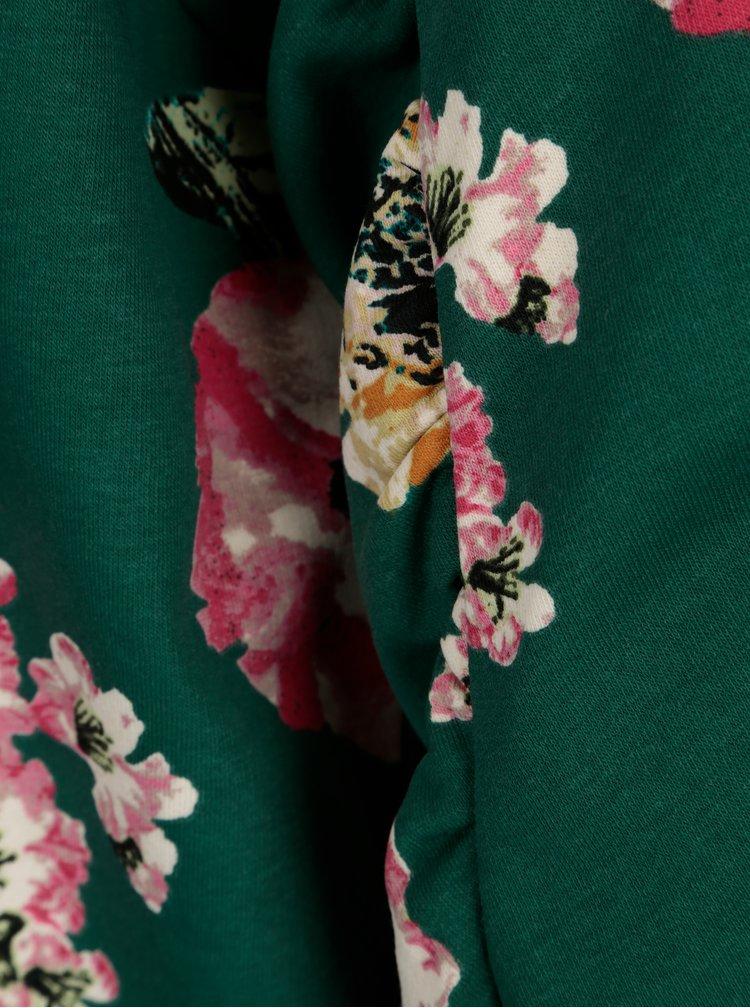 Zelená květovaná mikina ONLY Katehrine