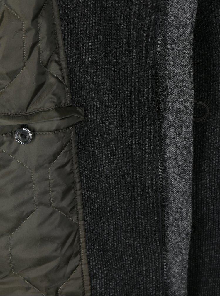 Tmavě šedá pánská bunda s příměsí vlny s.Oliver