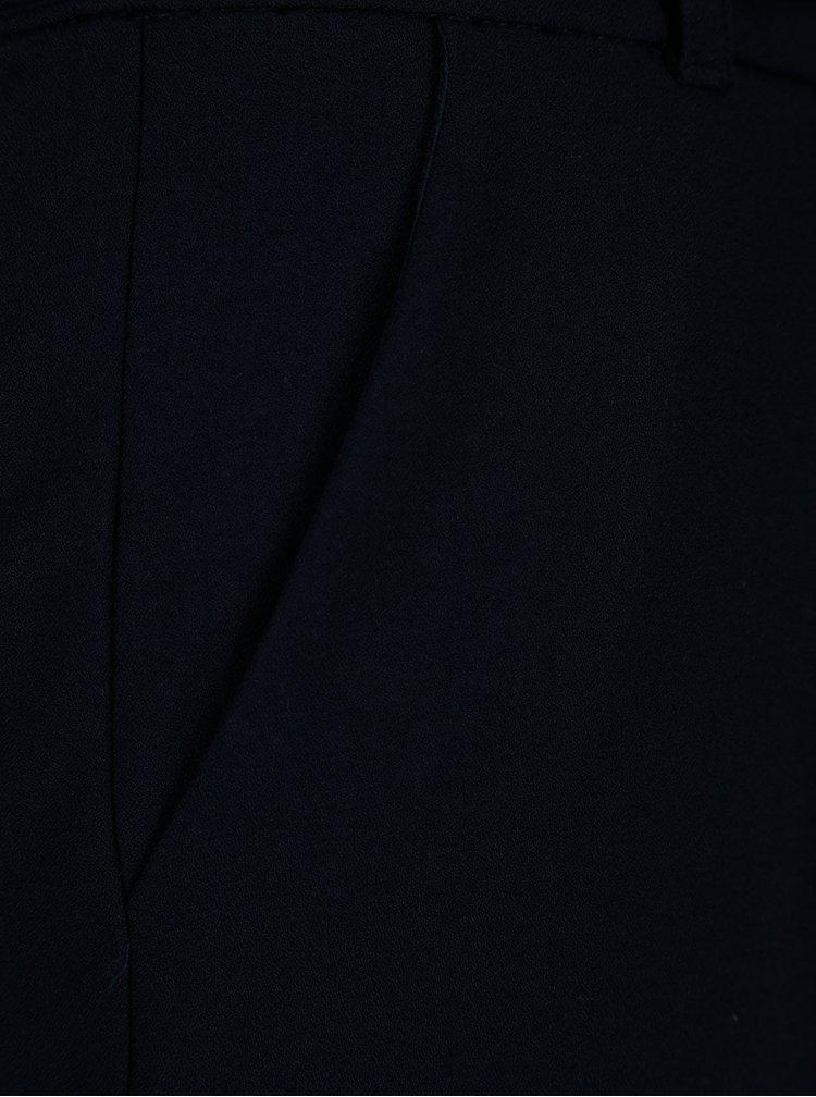 Tmavě modré zkrácené kalhoty se zavazováním ONLY Michelle