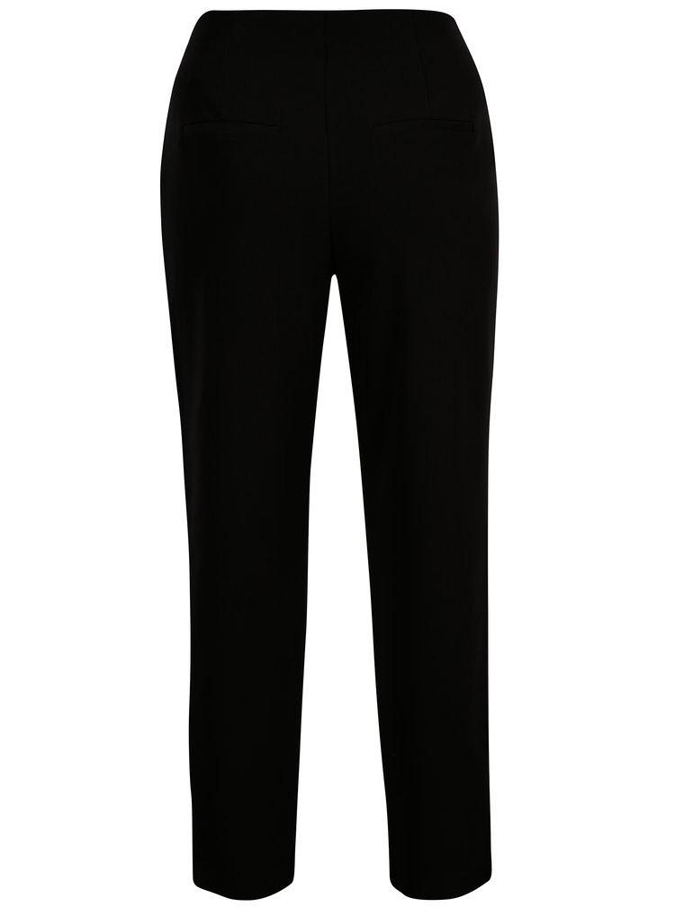 Černé zkrácené kalhoty s vysokým pasem ONLY Anya