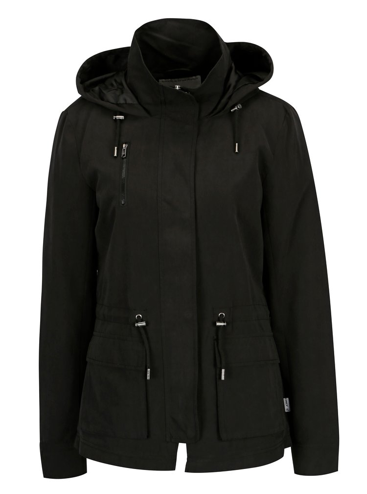 Černá lehká bunda s kapucí ONLY Starlight