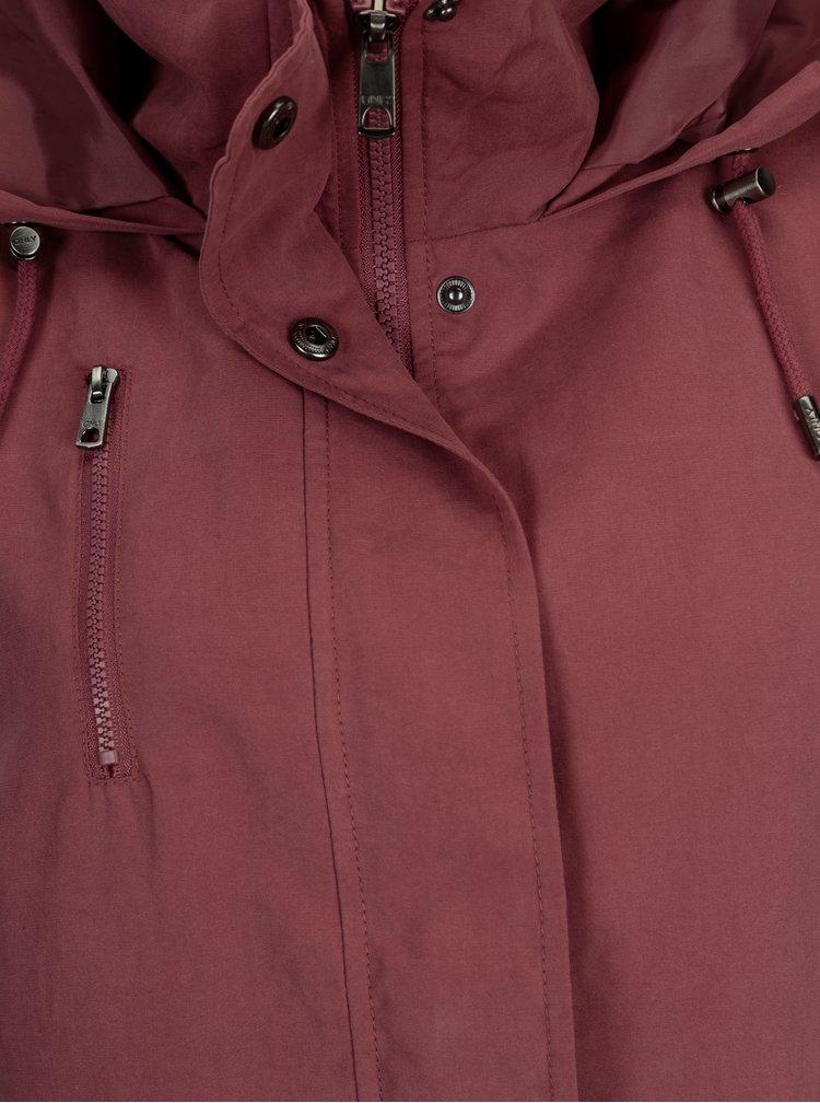 Starorůžová lehká bunda s kapucí ONLY Starlight