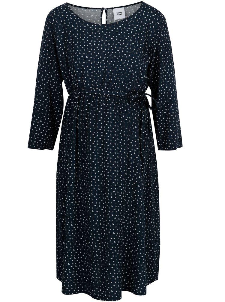 Tmavě modré těhotenské vzorované šaty Mama.licious South