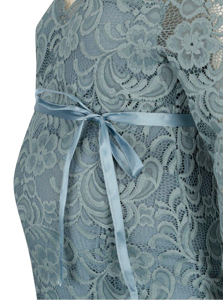Modré těhotenské šaty Mama.licious Ivana