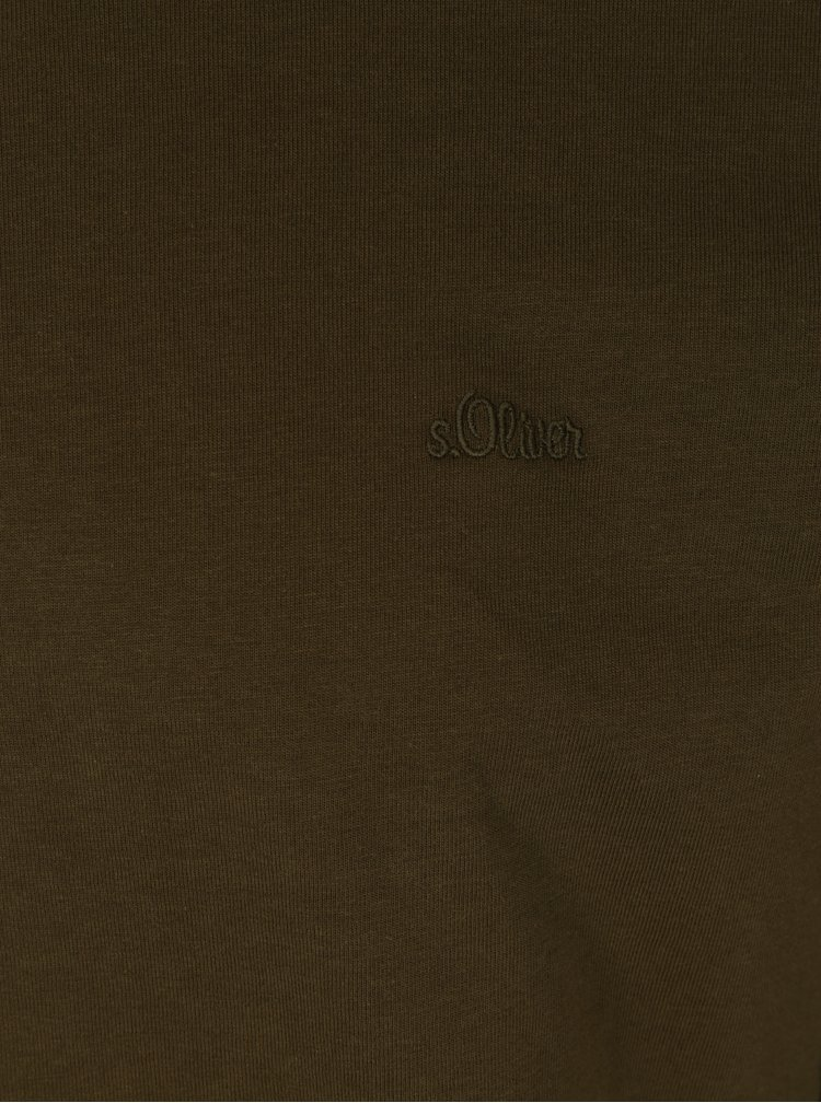 Khaki pánské tričko s.Oliver