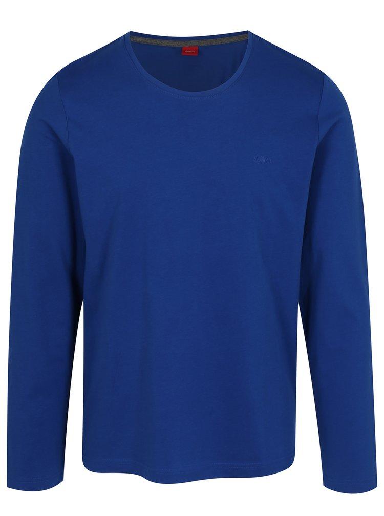 Modré pánské tričko s.Oliver