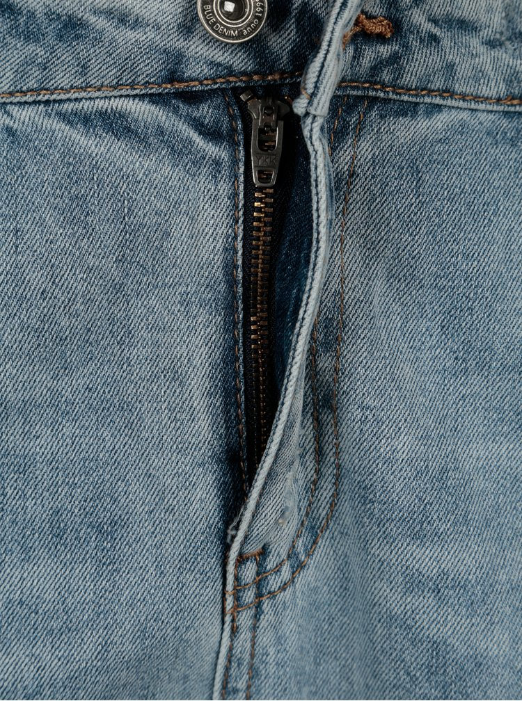 Světle modré boyfriend džíny s výšivkami ONLY Tonni