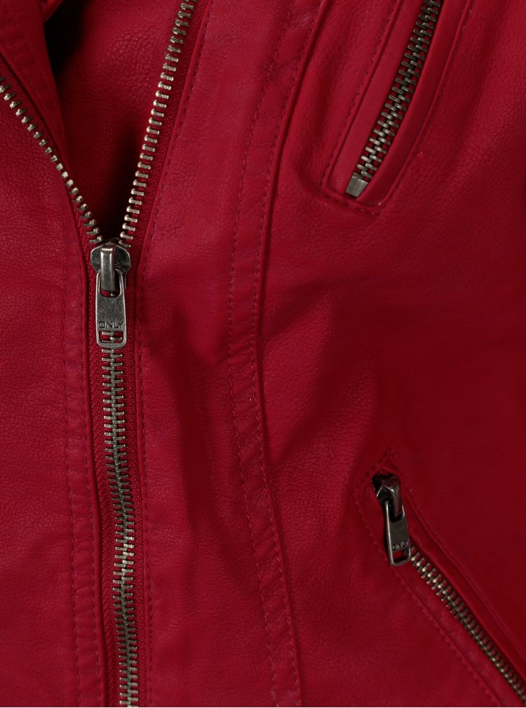 Červený koženkový křivák ONLY Steady