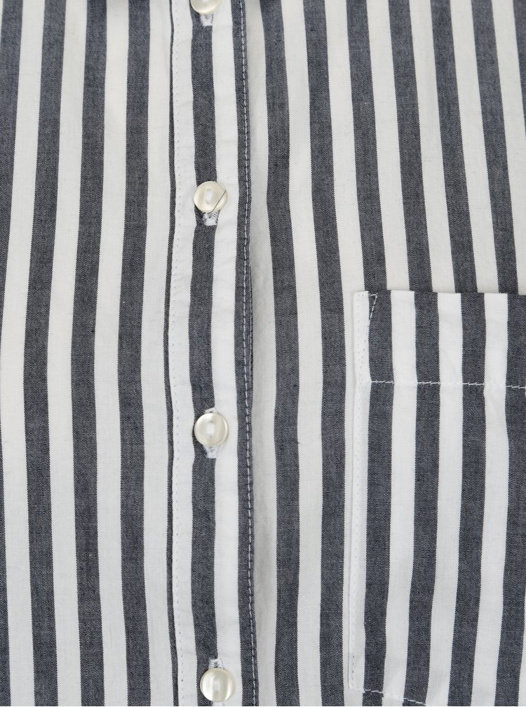Modro-krémová pruhovaná košile ONLY Joline