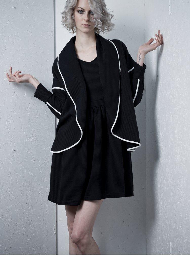 Černý oboustranný kardigan La femme MiMi