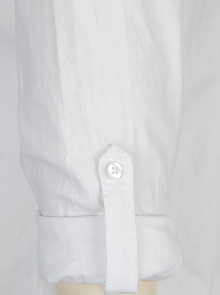 Camasa alba cu broderie florala si maneci ajustabile - Dorothy Perkins