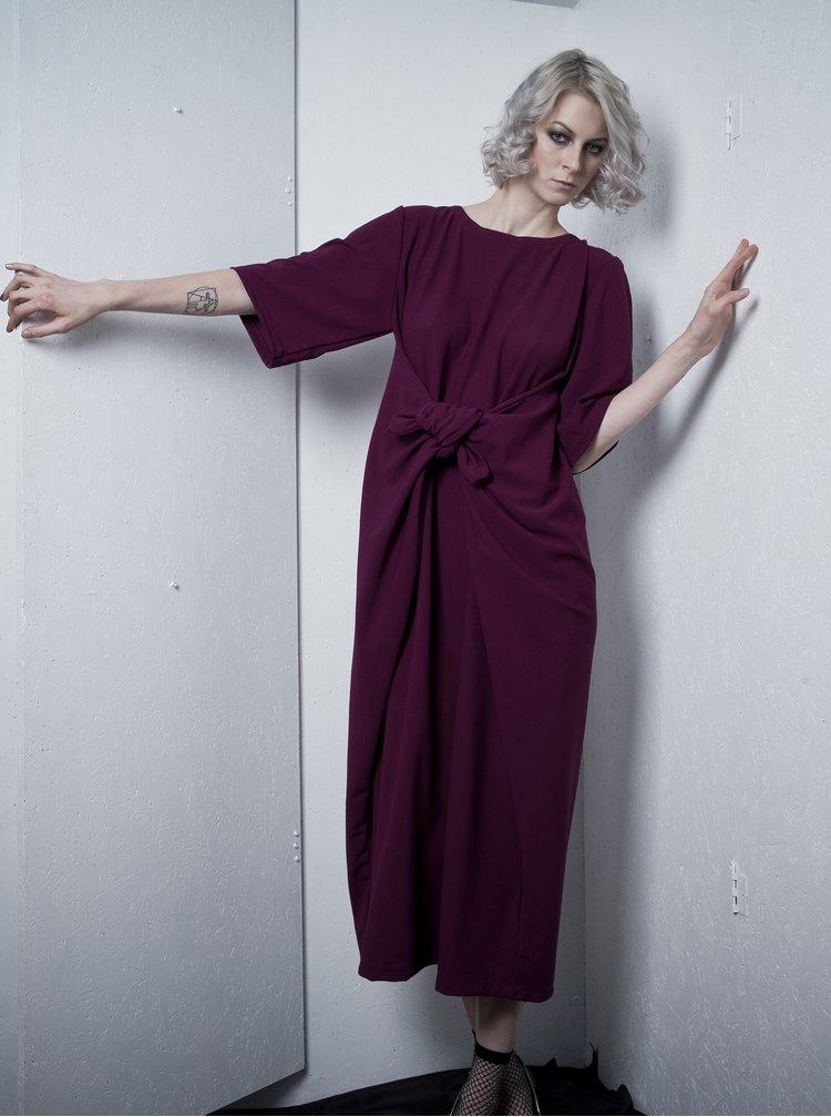 Fialové oversize šaty s páskem La femme MiMi