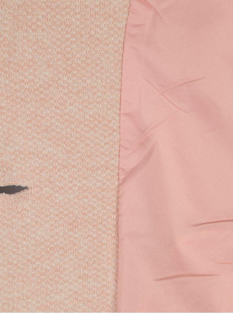 Světle růžový lehký žíhaný kabát ONLY Carrie