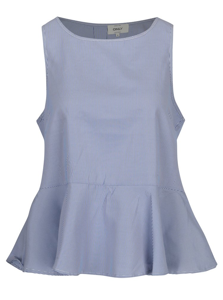 Pulover 2in1 bleumarin cu top in dungi - ONLY Latisha