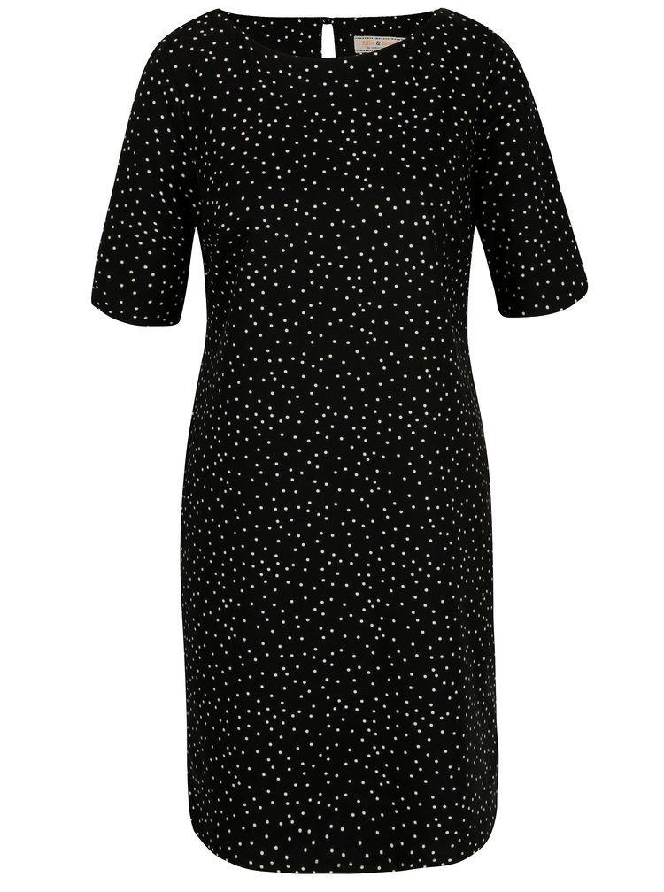 Čierne bodkované šaty Billie & Blossom